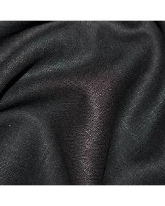 John Louden 100% Washed Linen - Black