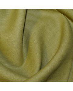 John Louden 100% Washed Linen - Chartreuse