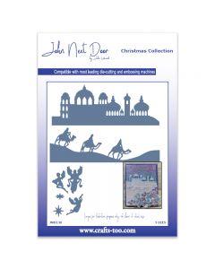 John Next Door Christmas Dies - O Little Town Scenes (3pcs)