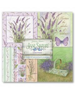 Joanna Sheen Jane Shasky 8 x 8 Cardmaking Collection Pad - Lovely Lavender