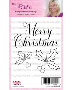 Stamps by Chloe - Merry Christmas and Holly Stamps