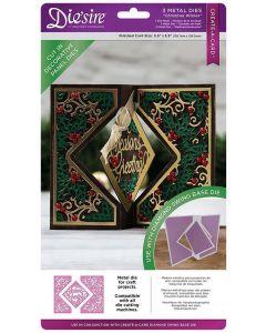 Die'sire Create-a-Card Kinetic Decorative Panels Metal Die - Christmas Wishes
