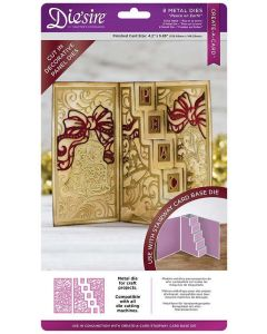 Die'sire Create-a-Card Kinetic Decorative Panels Metal Die - Peace on Earth