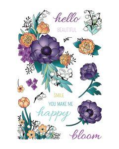 LDRS 4x6 Photopolymer Stamp Set - Beautiful Blooms