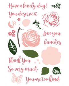 LDRS 4x6 Photopolymer Stamp Set - Love In Bloom