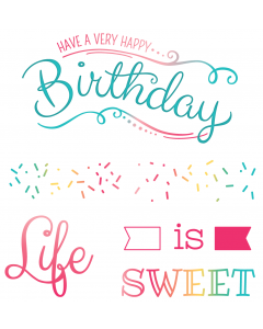 LDRS 4x4 Photopolymer Stamp Set - Life is Sweet