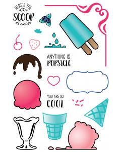 LDRS 4x6 Photopolymer Stamp Set - Ice Cream Party