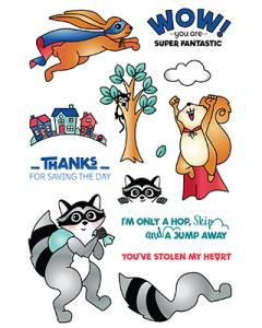 LDRS Photopolymer Stamp Set - Super Critters