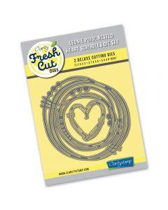 Claritystamp Leonie Pujol Scribbles Die - Nested Heart