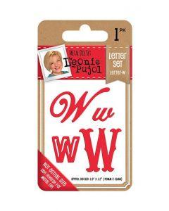 Leonie Pujol Typography Metal Die - Letter Set - W