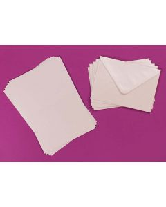Craft UK C6 Pearlescent Cards and Envelopes - Pearl White
