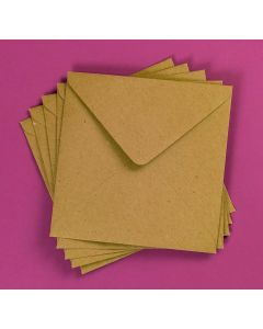 Craft UK Kraft Envelopes pack of 50 - 6x6