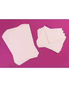 Craft UK 50x 5 x 7 Card and Envelopes - White