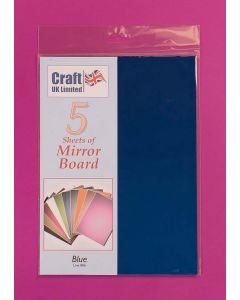Craft UK 5 Sheets Mirror Board - Pale Blue