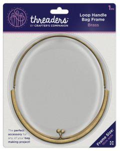 Threaders Loop Handle Bag Frame - Brass