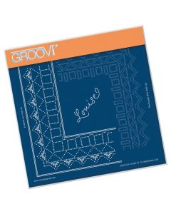 Claritystamp A5 Sq Plate - Princess Louise Lace Grid