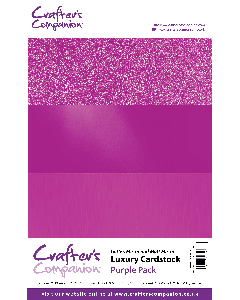 Crafter's Companion A4 Luxury Cardstock Pack - Purple