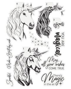 Crafter's Companion Photopolymer Layering Stamp - Magical Unicorn