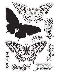 Crafter's Companion Photopolymer Layering Stamp - Majestic Butterfly