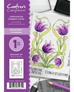 Crafter's Companion A6 Rubber Stamp - Decadent Flowers