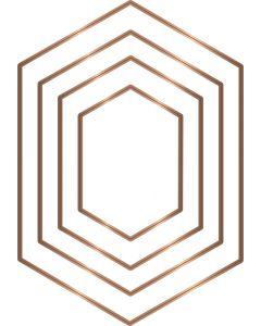 Gemini Multi Media Patchwork Die - Elongated Hexagon