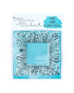 Mama Makes 10cm x 10cm Clear Photopolymer Stamp - Floral Square