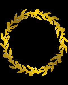 Gemini Monogram Foil Stamp Die - Laurel Wreath