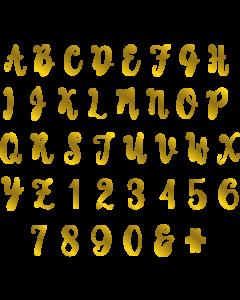 Gemini Monogram Foil Stamp Die - Modern Script Alphabet