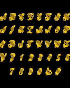 Gemini Monogram Foil Stamp Die - Traditional Script Alphabet