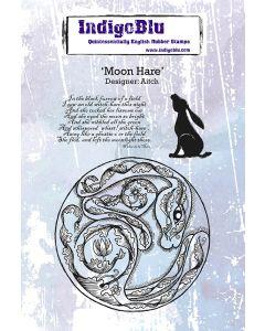 IndigoBlu A6 Rubber Stamp - Moon Hare