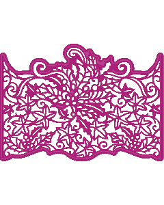 Gemini Create-a-Card Cut on Edge Christmas Metal Die - Christmas Foliage