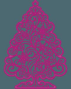Gemini Create-a-Card Cut on Edge Christmas Metal Die - Sparkling Tree