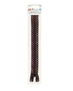 Prym 40cm Love Zip - Dark Brown