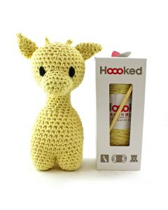 Hoooked DIY Eco Barbante Ziggy Giraffe Crochet Kit - Popcorn