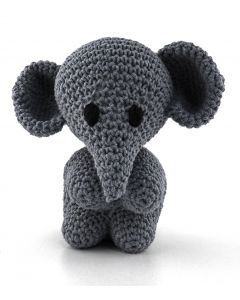 Hoooked DIY Eco Barbante Mo Elephant Crochet Kit - Basalt