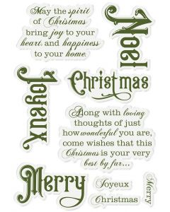 Poinsettia Perfection - Acrylic Stamp - Joyeux Noel