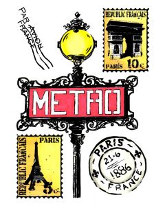 Crafter's Companion A6 Rubber Stamp - Postmark Paris