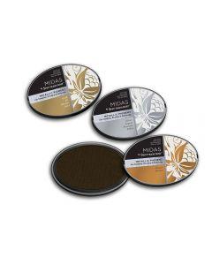 Midas by Spectrum Noir Metallic Pigment 3PC Inkpads - Antique Metals