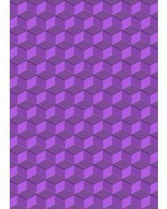 Gemini A6 3D Embossing Folder - Isometric Cube