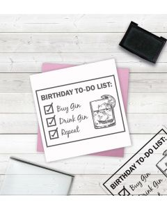 Crafter's Companion Clear Acrylic Stamps - Birthday To-Do List