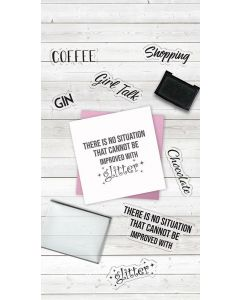 Crafter's Companion Clear Acrylic Stamps - Chocolate, Coffee, Gin