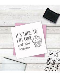 Crafter's Companion Clear Acrylic Stamps - Drink Prosecco