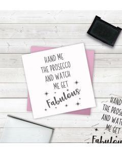 Crafter's Companion Clear Acrylic Stamps - Fabulous Prosecco