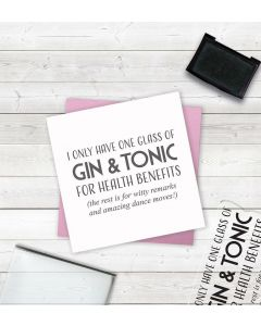 Crafter's Companion Clear Acrylic Stamps - Gin and Tonic