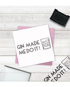 Crafter's Companion Clear Acrylic Stamps - Gin Made Me