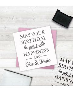 Crafter's Companion Clear Acrylic Stamps - Happiness and Gin