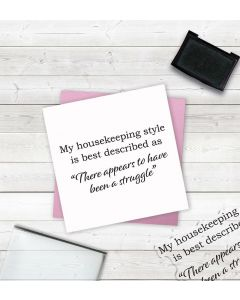 Crafter's Companion Clear Acrylic Stamps - Housekeeping
