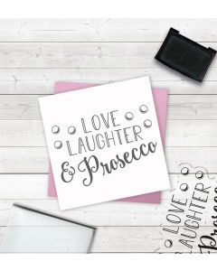 Crafter's Companion Clear Acrylic Stamps - Laughter and Prosecco