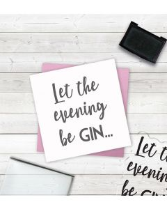 Crafter's Companion Clear Acrylic Stamps - Let the Evening Be Gin