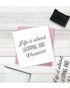 Crafter's Companion Clear Acrylic Stamps - Shopping and Prosecco